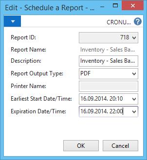 Report Scheduling in NAV 2015 (1/2)