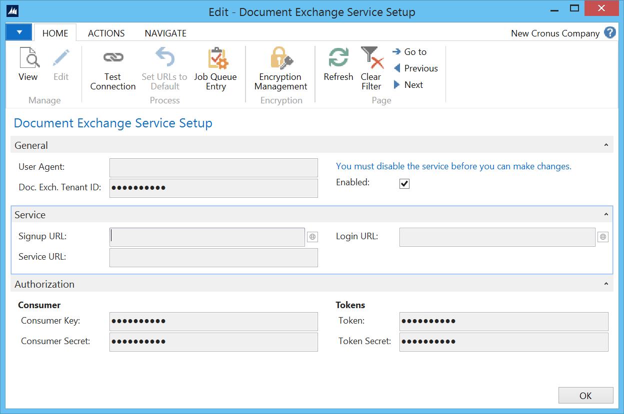sending electronic invoice in nav 2016