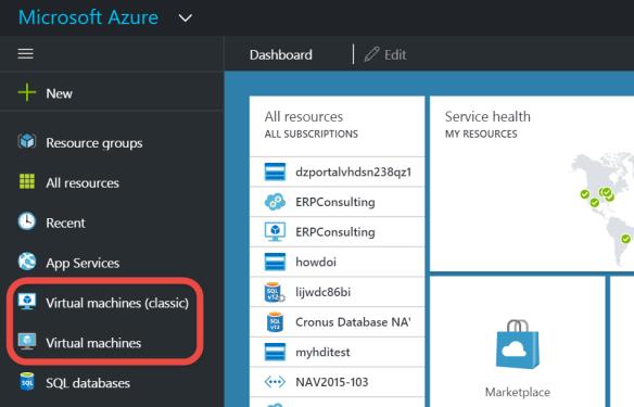 VMs in New Azure Portal | Totovic Dynamics Blog