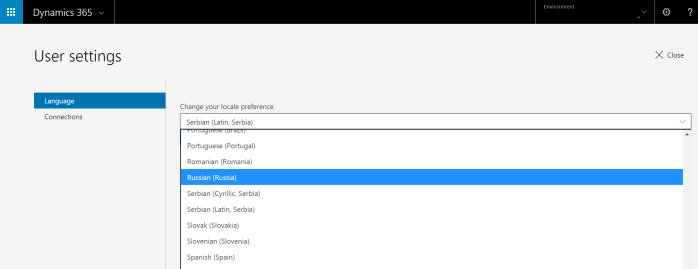 Dynamics 365 for Talent availability per countries